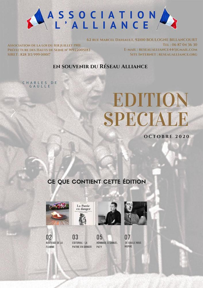 Lettre alliance edition speciale octobre 2020